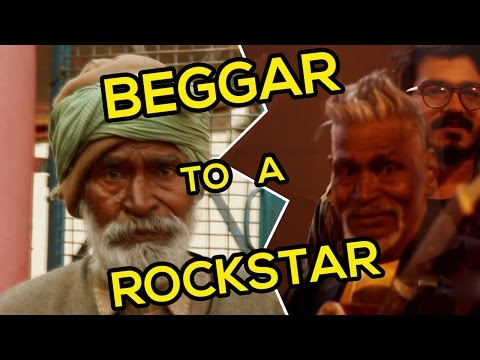 भिखारी बना रॉकस्टार । Transformation of a bagger to Rockstar (social experiment)by MR.PANK