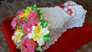 Торт БУКЕТ ЦВЕТОВ из крема Как сделать ТОРТ в виде БУКЕТА Cake decoration