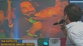 Fiesta mundialista en Río de Janeiro vía satélite con el