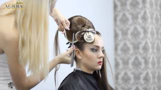 Ирина Агрба - Женская прическа на длинных волосах (высокая мода, подиумный стиль) Сочи