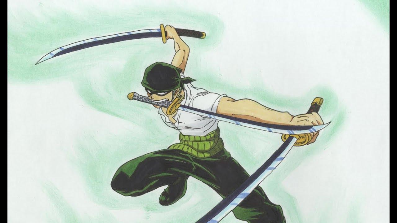 Drawing Roronoa Zoro - One Piece - YouTube