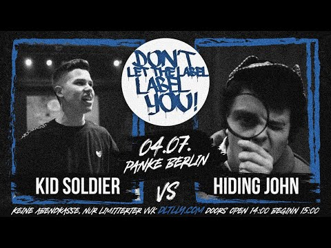 Kid Soldier vs Hiding John // DLTLLY RapBattle (Panke // Berlin) // 2020