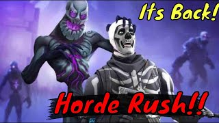 HORDE RUSH is BACK in Fortnite and its STILL BUGGY (Hilarious bug in the END)