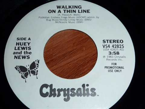 Lewis, Huey & The News - Walking On A Thin Line 45rpm