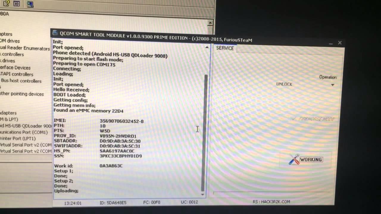 VODAFONE SMART PRIME 6 / VODAFONE VF895 / OT-VF895 / VF-1497 / TAB PRIME 6  NETWORK UNLOCK