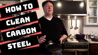 Big mess! How to Clean Carbon Steel Pans & Skillets