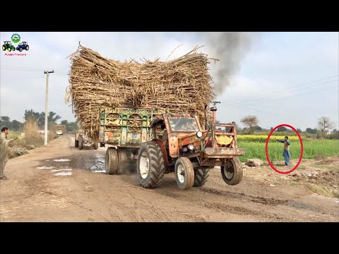Tractor Fail | Fiat 640 Hard Struggle to Pulling Trailer | Tractor Stunt