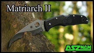 Обзор и кастомизация ножа Spyderco Matriarch 2