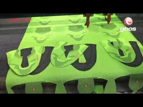 Laser cutting machine for knitting sports shoe uppers, vamp -Gbos
