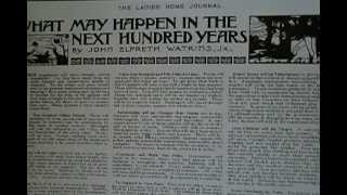 MAN PREDICTS FUTURE IN 1901 - Time Travel?  Satellites and Cellphones from Visionary!!! thumbnail