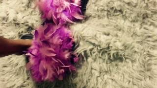 DIY FEATHERY SLIPPERS