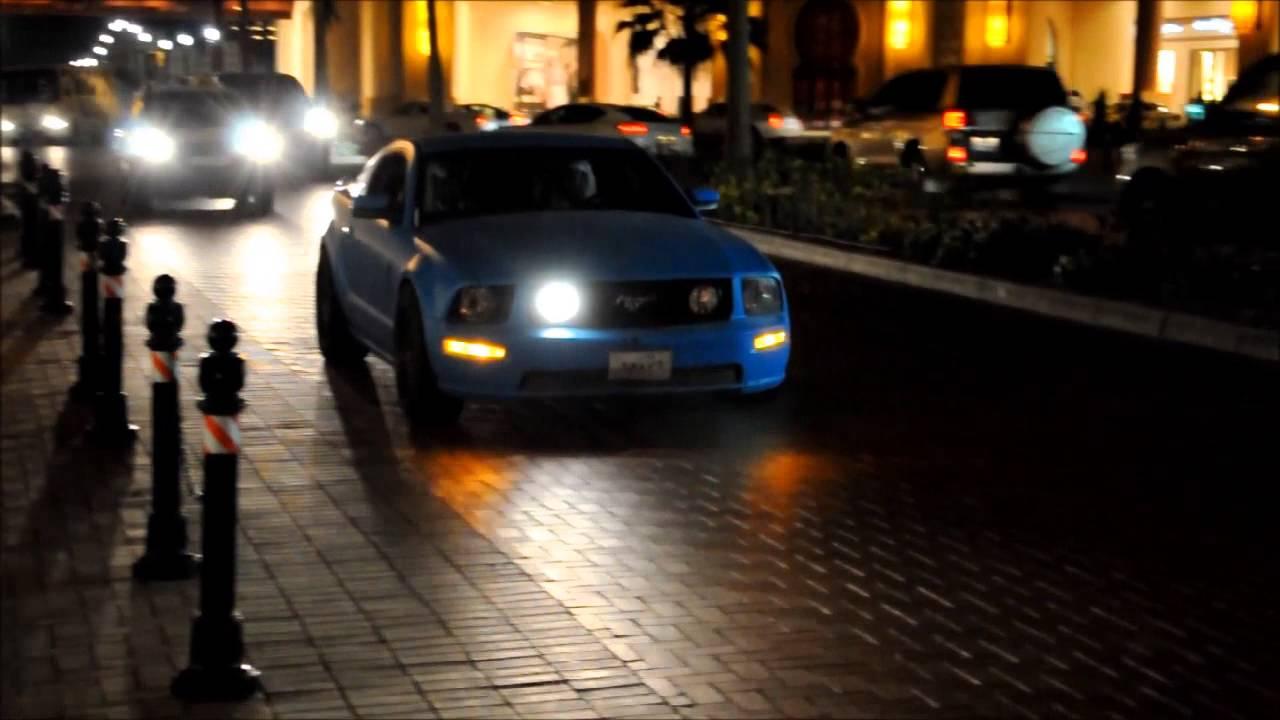 Matte Blue Ford Mustang Gt Revs Qatar