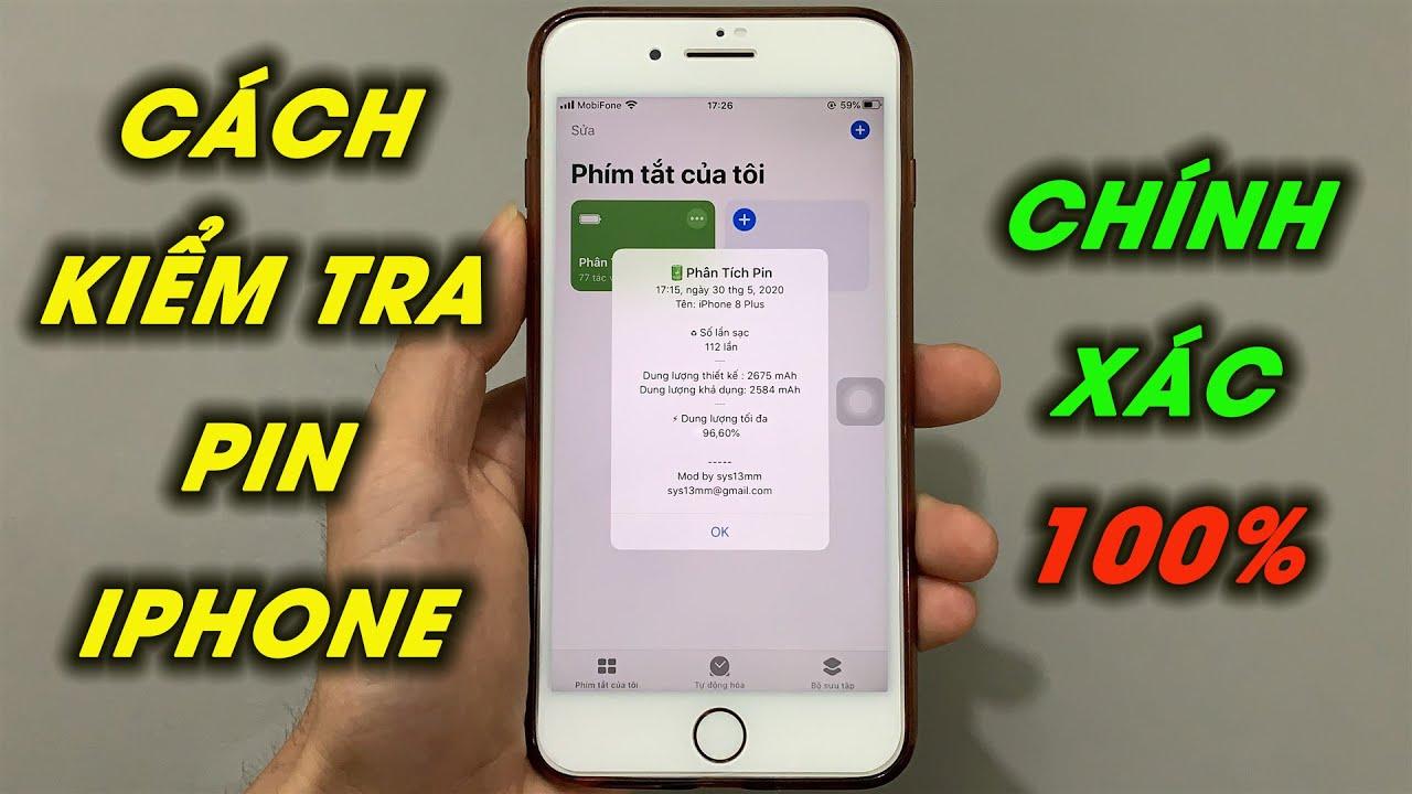 Cách kiểm tra số lần sạc và độ chai pin iPhone chính xác 100%