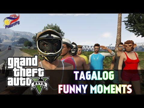 GTA 5 Online Tagalog Funny Trips: Waterfall Trip, Flying Cars, Racing