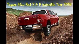 Toyota Hilux Red 2.4 D invincible Test 2018