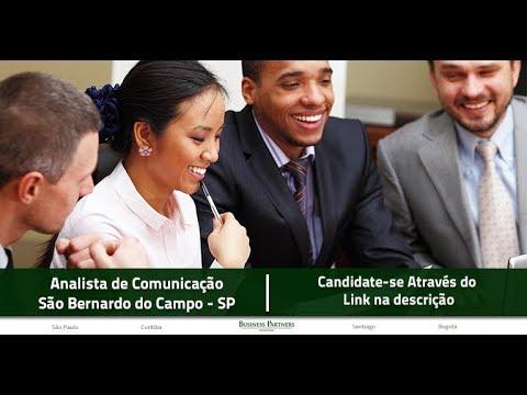 Vaga - Analista de Comunicação - Região ABC e São Paulo