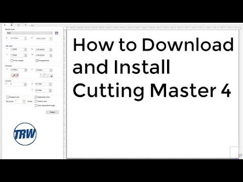 Installing Cutting Master 4 on Windows