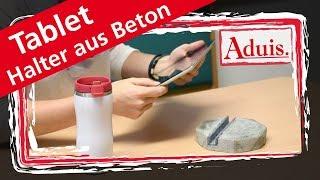 Beton gießen - DIY Tablet Halter