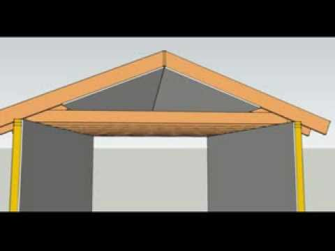How To Flatten A Vaulted or Cathedral Ceiling Part One - Construction Education - YouTube & How To Flatten A Vaulted or Cathedral Ceiling Part One ... memphite.com