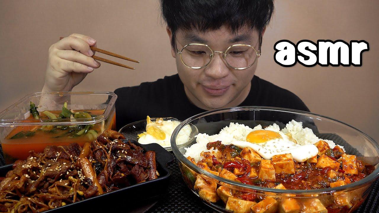 먹방창배tv 매력있는 마파두부에 콩나물불고기 느낌있죠 Mapa Tofu bean sprout bulgogi mukbang Legend koreanfood asmr