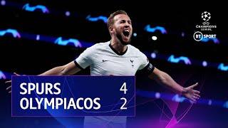 Tottenham Hotspur vs Olympiacos (4-2) | UEFA Champions League Highlights