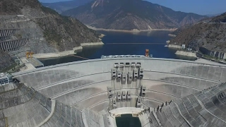 The Tallest Arch Dam in The World航拍小湾电站