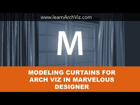 Modeling Curtains for Arch Viz Using Marvelous Designer