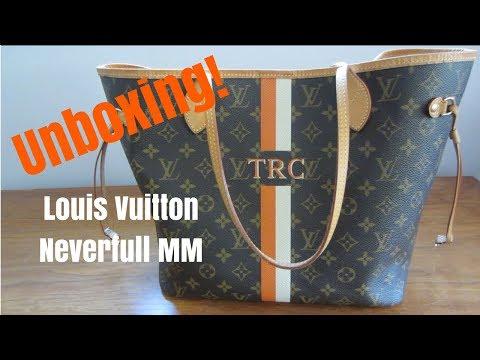 UNBOXING & REVEAL   Louis Vuitton Neverfull MM Monogram Mon Mono