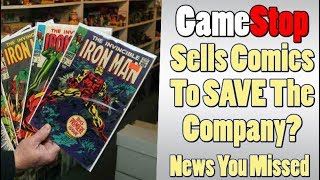 GameStop is Going to Sell COMICS to Save it