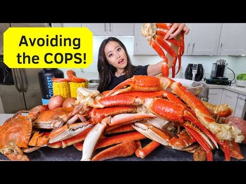 SEAFOOD BOIL! Snow Crabs + Blue Crabs MUKBANG | Eating Show