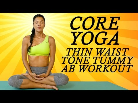 Yoga for Abs, Core & Belly Fat with Sanela | Beginners at Home Yoga Workout for a Flat Tummy