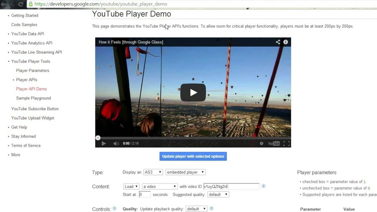 Las APIs del reproductor IFrame y Flash desde JavaScript - YouTube