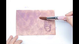 [친절한 가죽공예] 무늬 넣고 염색하기 - 가죽 염색 …
