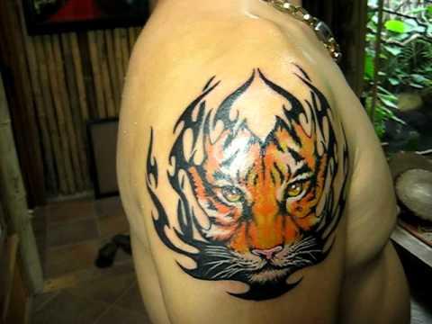 3d tattoo tiger tattoo Xm mnh ngh thut dt