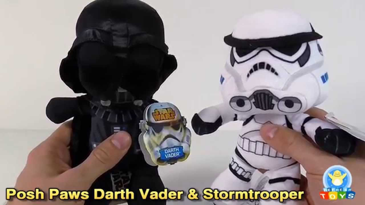 Darth Vader Stormtrooper Posh Paws Star Wars Plush Toy Review