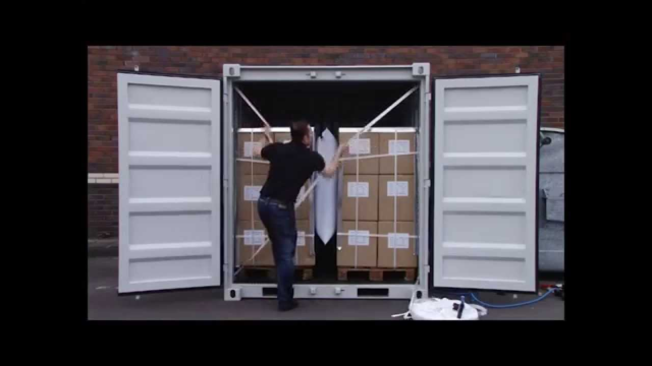 Woven Lashing Inside A Container Lashing Straps Youtube