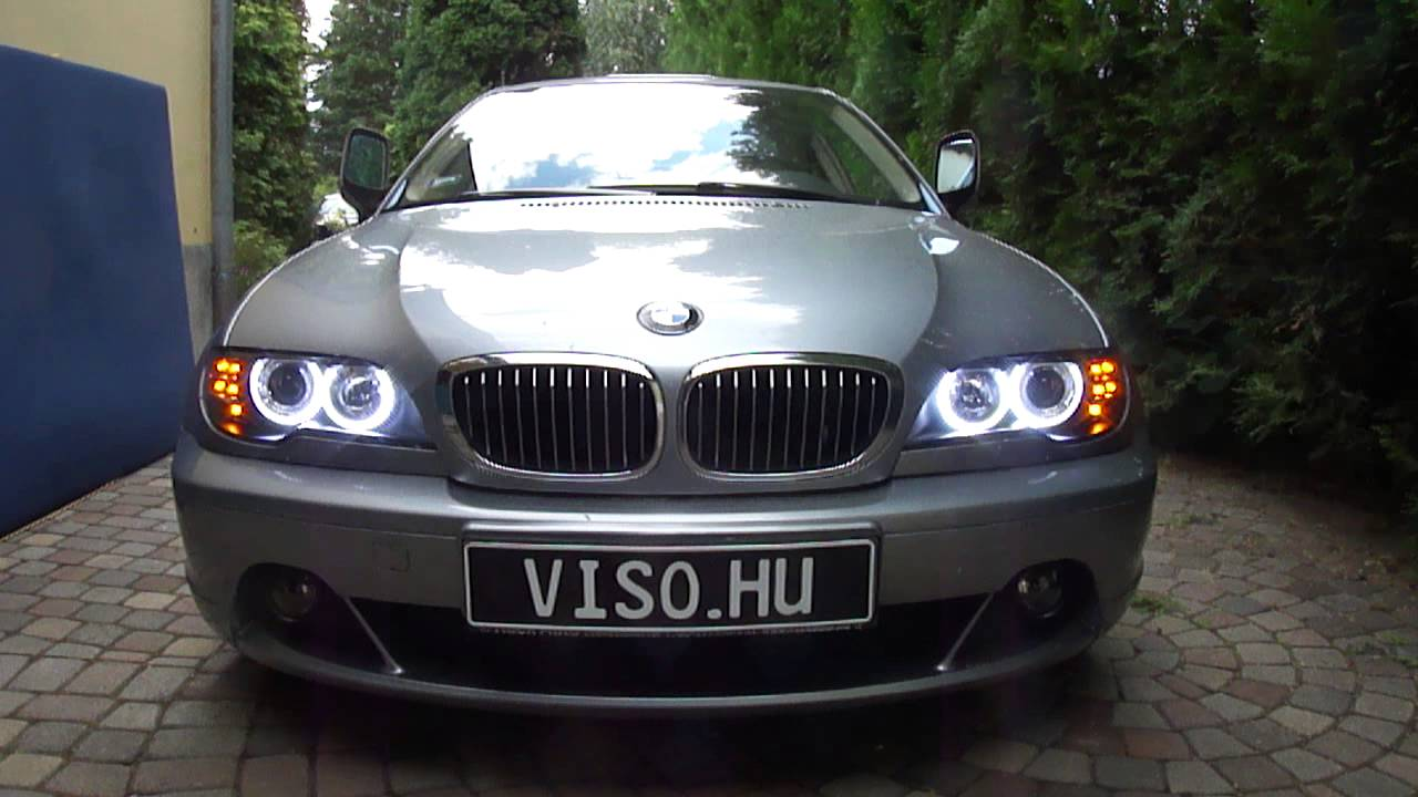 bmw e46 led angel eye upgrade 3 xenon headlight with led. Black Bedroom Furniture Sets. Home Design Ideas