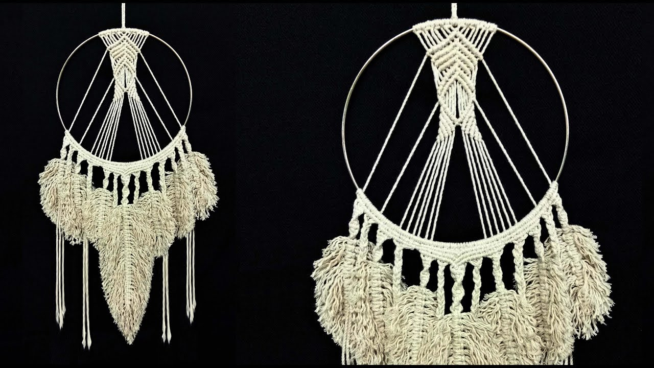 Cotton Twisted Cord Macrame Art Macrame Feather Dream