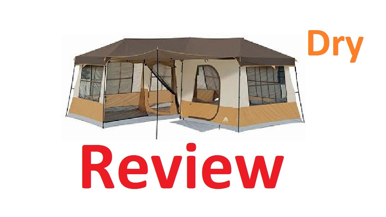 Ozark Trails 3 Room Cabin Tent Review - Dry Review
