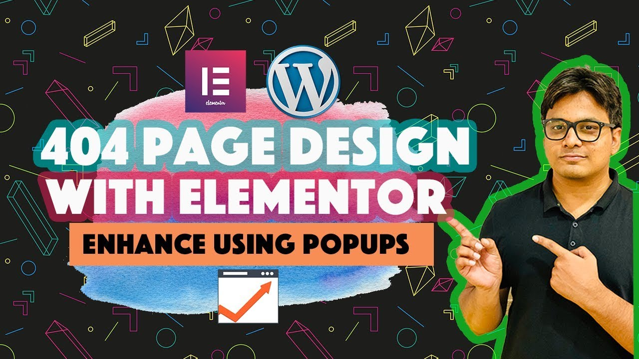 How to design Wordpress 404 error page with Elementor pro and Elementor  Popups