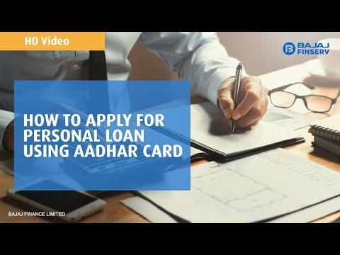 Apply For Personal Loan With Aadhaar Card | Bajaj Finserv