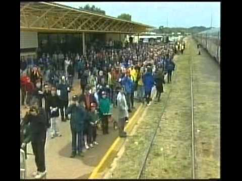 ABC Television; 7:30 Report: Opening of Adelaide - Darwin railway line, 2005.