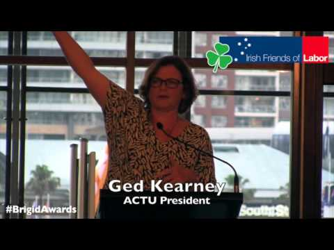 ACTU President Ged Kearney Address at 2016 Brigid Awards