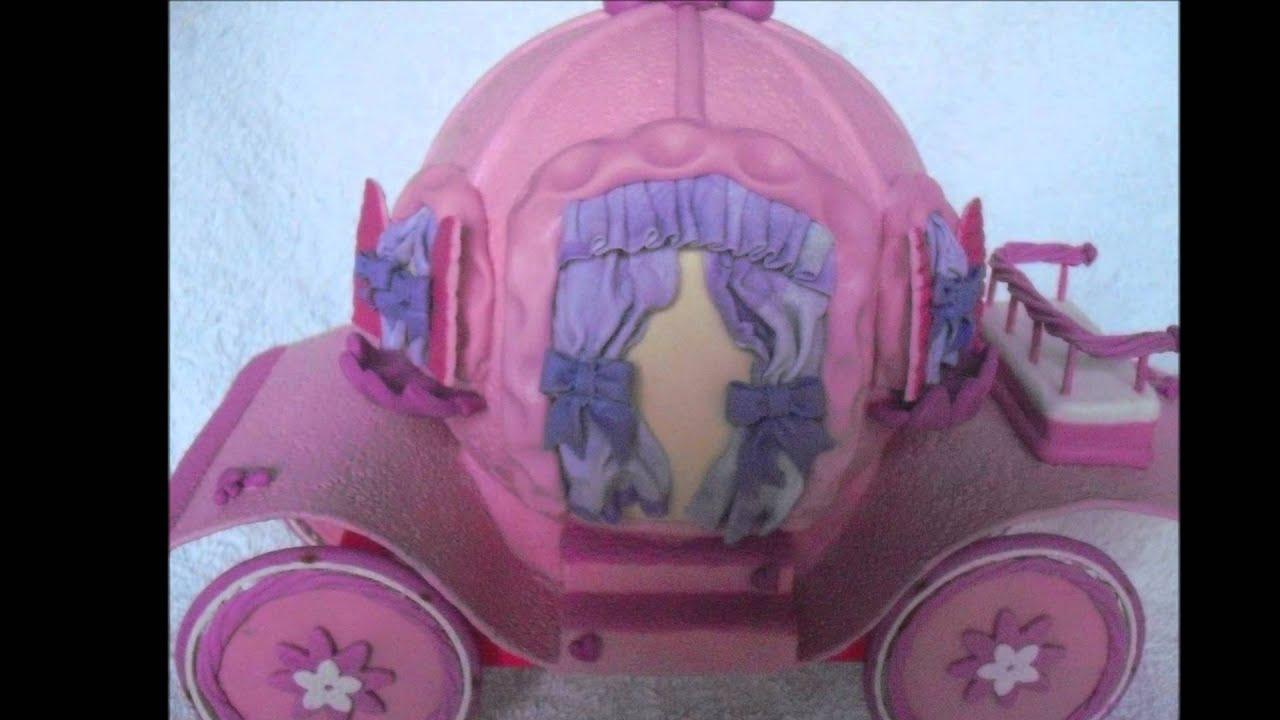Carruagem de uma princesa youtube for Mural de isopor e eva