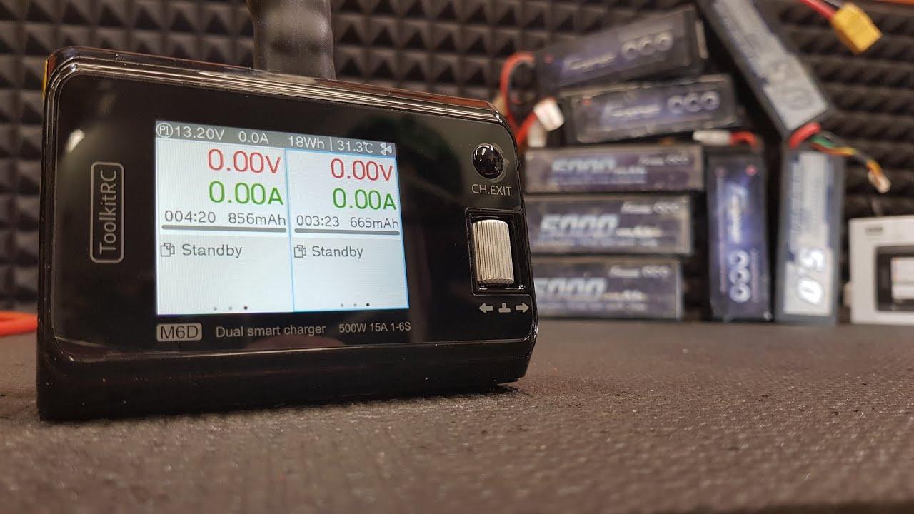 Компактно и мощно ... Зарядка ToolkitRC M6D 500W