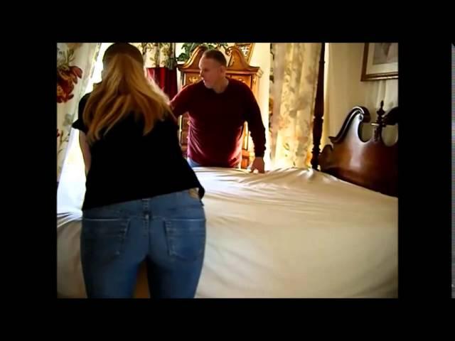 Siberian Husky Won't Let Parents Make the Bed