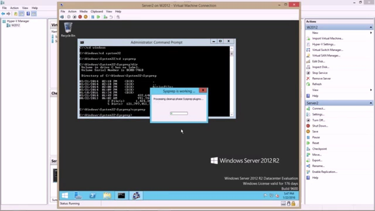 Use Sysprep to generalize Hyper-V VMs for rapid deployment