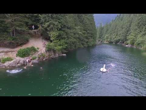Gold Creek, Golden Ears Park, Maple Ridge, B.C., Canada By RSamson. Aerial Drone