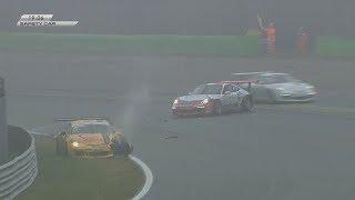 Porsche Carrera Cup Italia 2017. Race 2 Autodromo Nazionale Monza. Crash