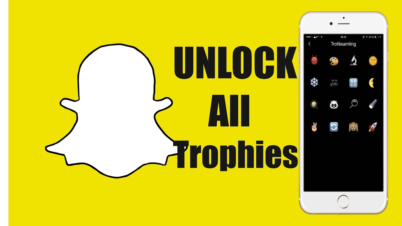 how to unlock all trophies in snapchat full achievement list how to unlock all trophies in snapchat full achievement list
